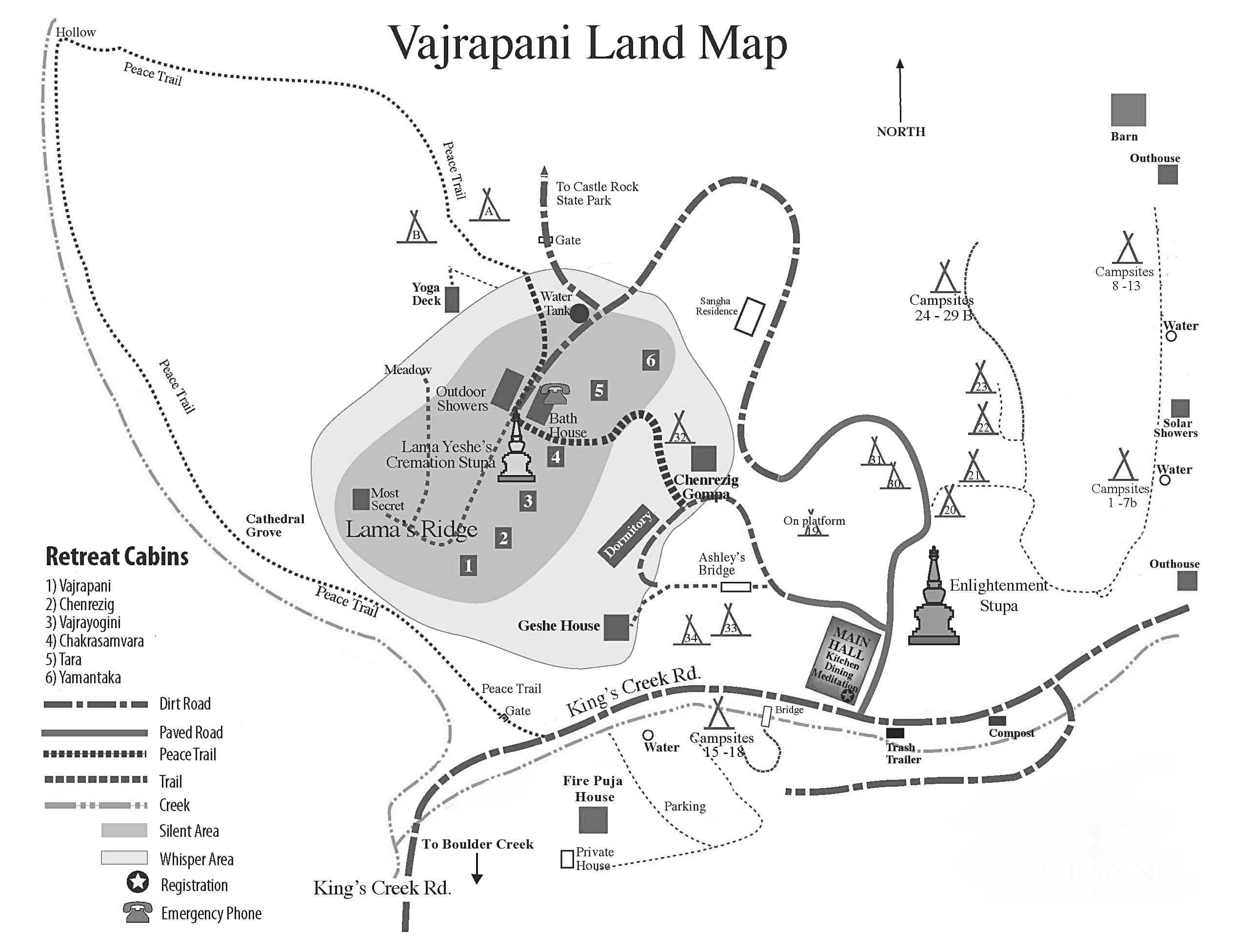 Vajrapani Land Map