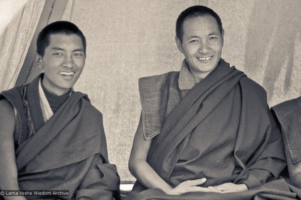 Lama Zopa and Lama Yeshe